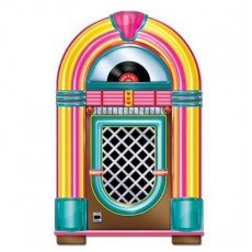Rock n Roll Neon Jukebox Cutout