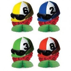 Horse Racing Mini Jockey Helmets Honeycomb Centrepieces