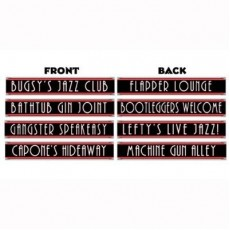 Great 1920's Gangster Street Signs Cutouts 10cm x 61cm Pack of 4