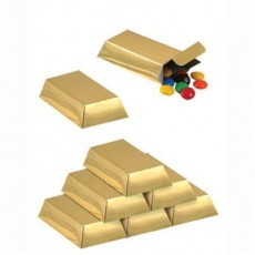 Pirate's Treasure Gold Bar Favour Boxes 7.6cm x 3.8cm x 2cm Pack of 12