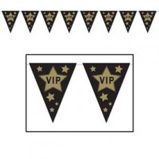Hollywood Gold Stars Pennant Banner
