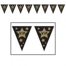 Hollywood VIP Gold Stars Pennant Banner