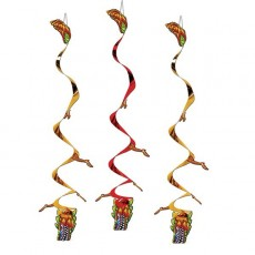 Chinese New Year Asian Dragon Whirls Hanging Decorations