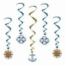 Multi Colour ed Cruise Ship Whirl Hanging Decorations