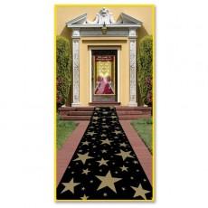 Hollywood Awards Night Gold Stars Floor Runner Misc Decoration