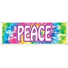 Feeling Groovy & 60's Peace Sign Banner 53cm x 152cm