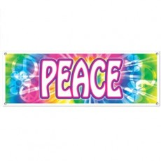 Feeling Groovy & 60's Peace Sign Banner
