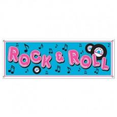 Rock n Roll Sign Banner 53cm x 152cm