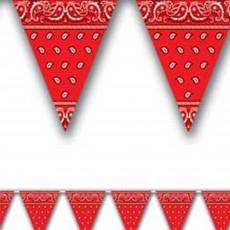 Red Bandana Plastic Pennant Banner