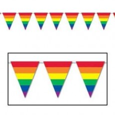 Rainbow Stripes Flag Pennant Banner