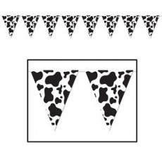 Cow Print Party Decorations - Pennant Banner
