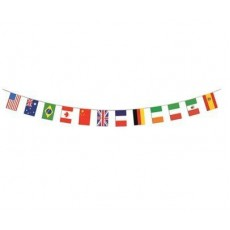 International 12 Flags Pennant Banner