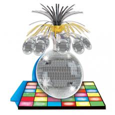 Disco & 70's Disco Ball Cascade Centrepiece 33cm