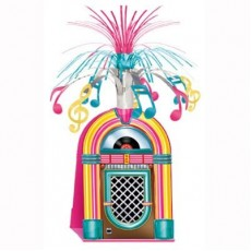 Rock n Roll Jukebox & Music Notes Cascade Centrepiece