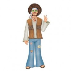 Feeling Groovy & 60's Hippie Male Jointed Cutout
