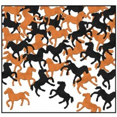 Horse Racing Black & Copper Horses Confetti