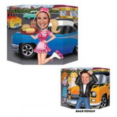 Rock n Roll 50's Car Hop & Greaser Photo Prop 94cm x 64cm