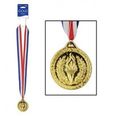 Sports Gold Medal & Ribbon Award