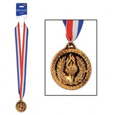 Misc Occasion Bronze Sports Medal & Ribbon Award