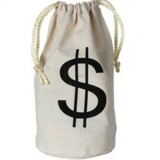 Casino Night Money Bag $ Favour Bag