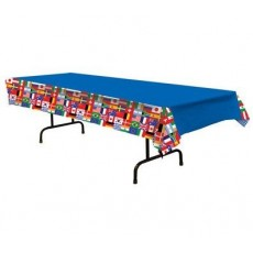 International Party Supplies - Plastic Table Cover Flags
