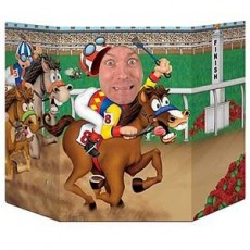 Horse Racing Derby Day Photo Prop 94cm x 64cm
