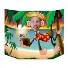 Hawaiian Luau Monkey Photo Prop