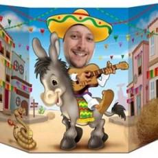 Mexican Fiesta Donkey Photo Prop 94cm x 64cm