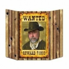 Cowboy & Western Wanted Poster Photo Prop 94cm x 64cm