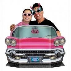 Rock n Roll 50's Pink Convertible Car Photo Prop 94cm x 64cm