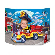 Firefighter Fire Truck Photo Prop