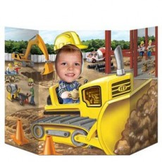 Under Construction Construction Bulldozer Photo Prop