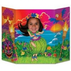 Hawaiian Luau Hula Girl Photo Prop