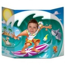 Hawaiian Luau Surfer Dude Photo Prop