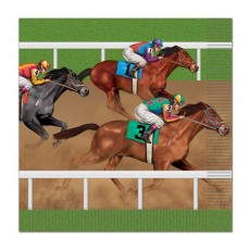 Horse Racing Lunch Napkins 33cm x 33cm Pack of 16