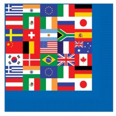 International Flags Beverage Napkins