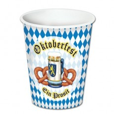 Oktoberfest Paper Cups 266ml Pack of 8