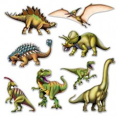 Dinosaur Cutouts Pack of 8