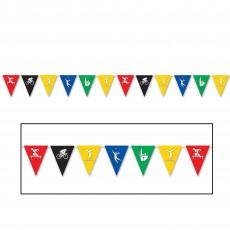 Sports Flag Pennant Banner 28cm x 3.65m