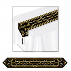 Hollywood Black & Gold Great 20's Table Runner