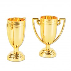 Gold Plastic Trophy Cups Trophies 7cm Pack of 8