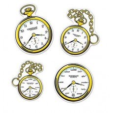 Mad Tea Tea Party Clock Cutouts