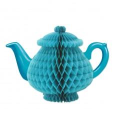 Tea Time Party Decorations - Centrepiece Blue Teapot Honeycomb