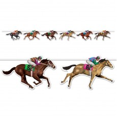 Horse Racing String Streamer Banner