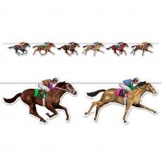 Horse Racing String Streamer Banner