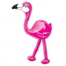Hawaiian Bright Pink Flamingo Shaped Balloon
