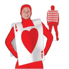 Casino Night Heart Playing Card Suit Vest Costume Accessorie