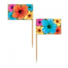 Hawaiian Party Decorations Hibiscus Flowers Party Picks