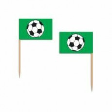 Soccer Ball Paper Party Picks 6cm Pack of 50