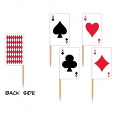 Casino Party Decorations Playing Cards Party Picks
